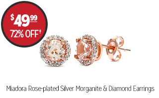 Miadora Rose-Plated Morganite and Diamond Earrings  - $49.99 - 72% off‡