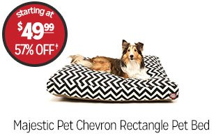 Majestic Pet Chevron Rectangle Pet Bed - Starting at: $49.99 - 57% off‡