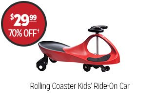 Rolling Coaster Kids' Ride-On Car - $29.99 - 70% off‡