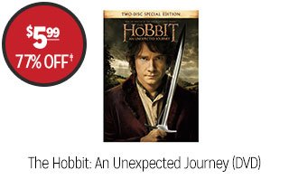 The Hobbit: An Unexpected Journey (DVD) - $5.99 - 77% off‡