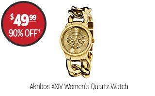 Akribos XXIV Women's Quartz Watch - $49.99 - 90% off‡