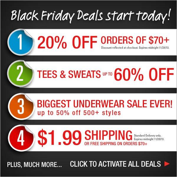 Black Friday Deals start TODAY!