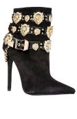 The Rokbar Bootie in Black Suede and Gold