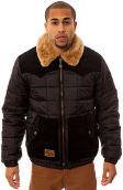 The LRG Father Nature Puffy Jacket in Black