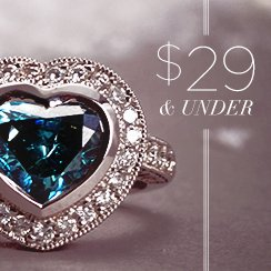 29$ & under Diamonds & Gemstones