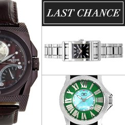 Last Chance: Designer Watches from $1