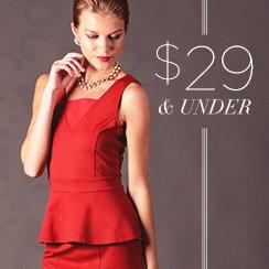29$ & under Dresses