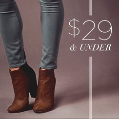 29$ & under Winter Shoes