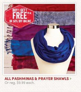 All Pashminas & Prayer Shawls – Buy One, Get One FREE!
