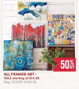 All Framed Art – 50% off