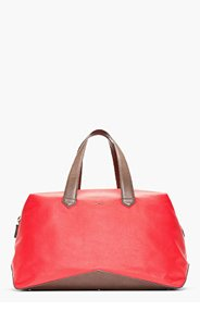 PAUL SMITH RED LEATHER DUFFLE BAG for men