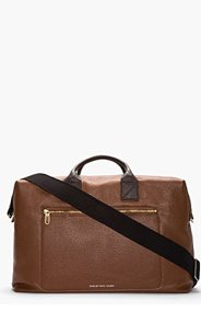 MARC BY MARC JACOBS Brown Leather Slice & Dice Weekender Tote for men