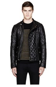 BALMAIN QUILTED LEATHER JACKET for men