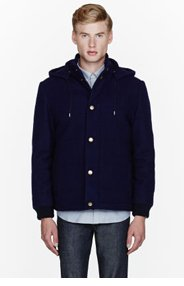 A.P.C. Navy quilted Doudoune Ski Jacket for men