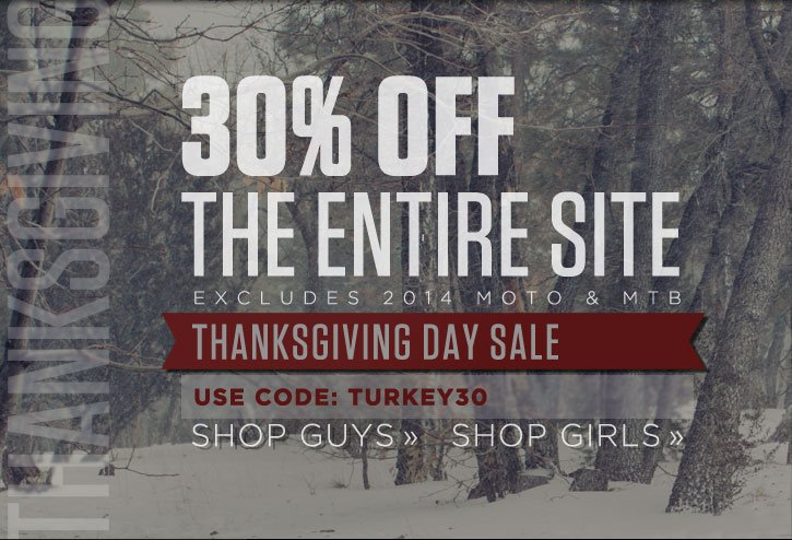 30% Off The Entire Site