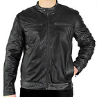 Xelement Mens Moto Racer Black Casual Leather Jacket
