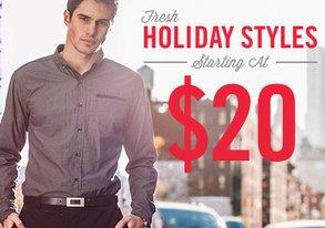 Shop Fresh Holiday Styles starting at $20