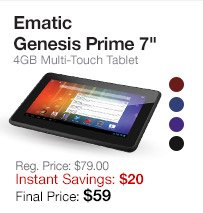 Ematic 4GB Tablet