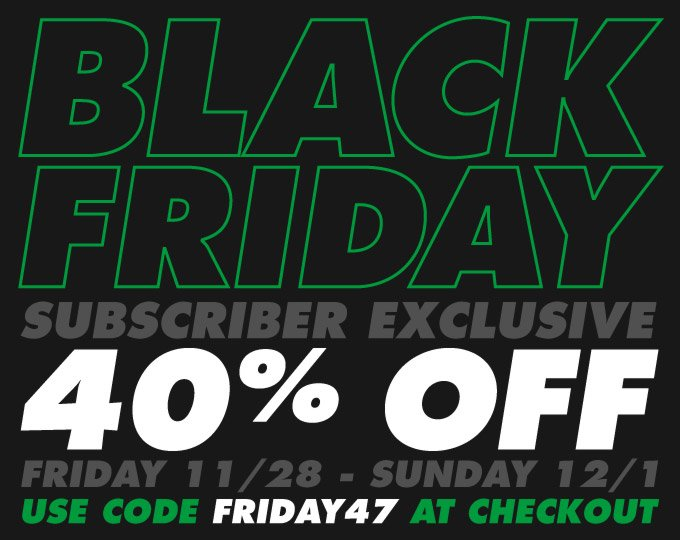 BLACK FRIDAY SALE - 40% OFF