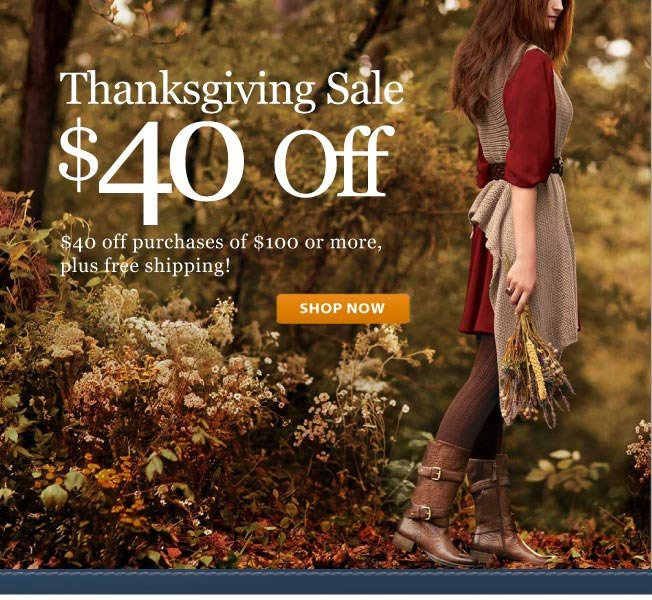 $40 off $100! Thanksgiving Sale!
