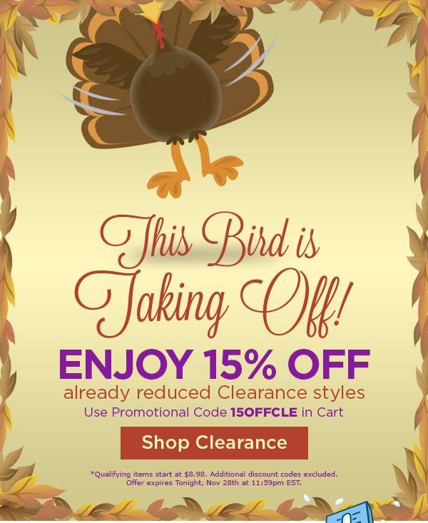 Enjoy 15% OFF Already reduced clearance styles - Shop Clearance