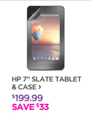 "HP 7"" Slate Tablet & Case"