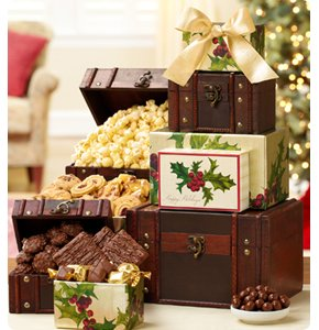 Holiday Treasures Trunk Gift Tower Shop Now