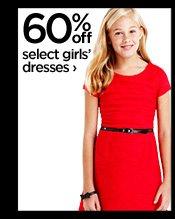 60% off select girls' dresses ›