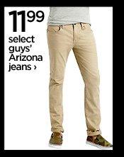 11.99 select guys' Arizona jeans  ›
