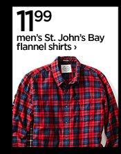 11.99 Men's St. John's Bay flannel shirts  ›