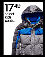 17.49 select kids' coats ›