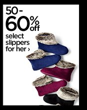 50-60% off select slippers for her  ›