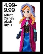 4.99-9.99 select Disney plush toys  ›