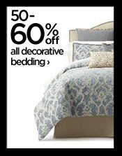 50-60% off all decorative bedding  ›