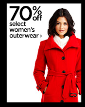 70% off select women's outerwear  ›