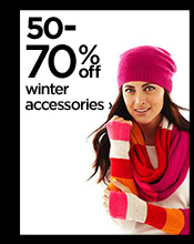 50-70% off winter accessories ›