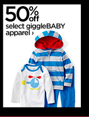 50% off select giggleBABY apparel  ›