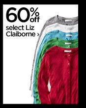 60% off select Liz Claiborne ›