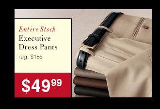 Executive Dress Pants - $49.99 USD