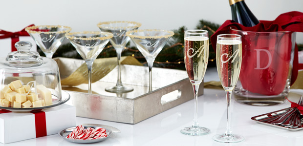 Add a Personal Touch: Monogrammed Glassware & More
