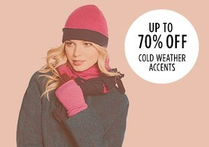 Up to 70% Off: Cold Weather Accents