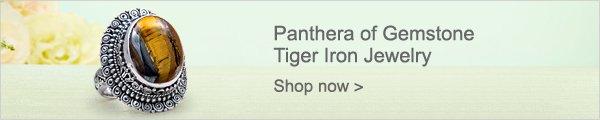 Panthera of Gemstone Tiger Iron Jewelry