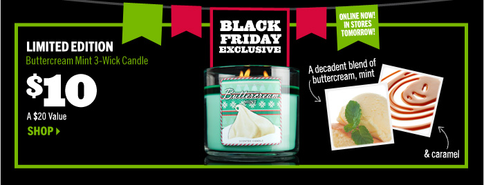 Buttercream Mint 3-Wick Candle – $10