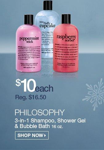 Philosophy Shower Gels $10 - Reg. $16.50