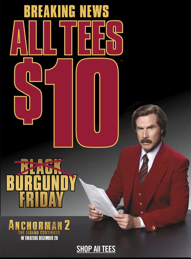 BREAKING NEWS - ALL TEES $10**