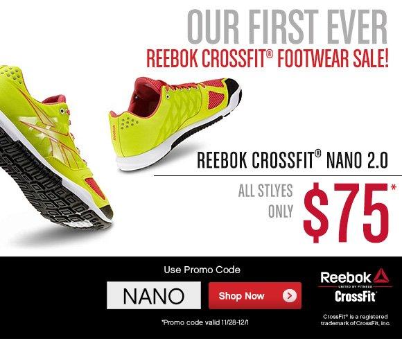 OUR FIRST EVER REEBOK CROSSFIT FOOTWEAR SALE!