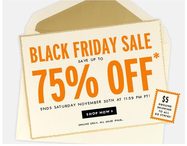black friday sale. shop now.