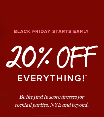 Black Friday Starts Early - Browse All