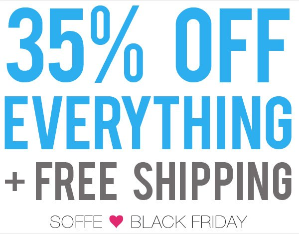 35% Off everything + free shipping.
