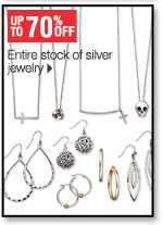 Up to 70% off Entire stock of  silver jewelry